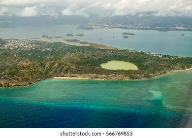 Lac Dziani. Mayotte, France, océean Indien