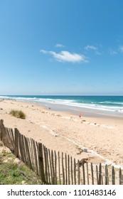 Lacanau (France), central beach
