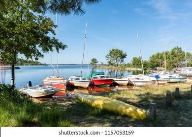 Lacanau (France), view of the lake