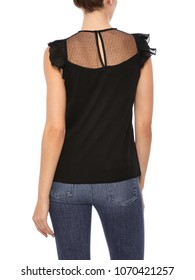 Lace Knit Deep V Neck Sleeveless for Womens