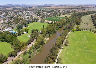 The Lachlan River is a major river in Central NSW and flows through the town of Cowra an important regional town in New South Wales central west - Cowra NSW Australia