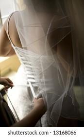 Lacing up the Bride
