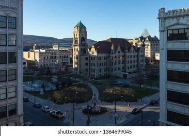 Lackawanna County Courthouse Square, Scranton, PA, April 6, 2019