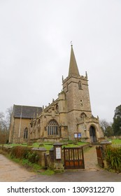 LACOCK, GREAT BRITAIN - DEC 23, 2018: St. Cyriac's Church in the village of Lacock, England. December 23, 2018 in Lacock Great Britain