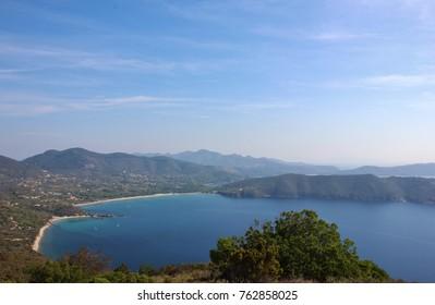Lacona bay, Elba island. Tuscany, Italy