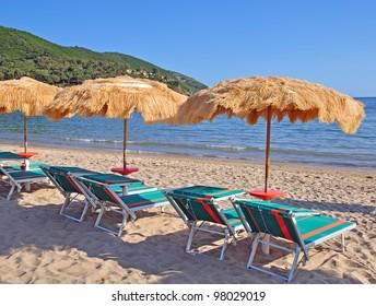 Lacona Beach on Elba Island,Tuscany,Italy