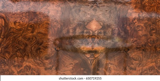 Lacquered wood background, polished wood surface, hardwood