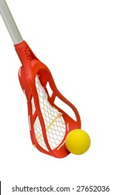 Lacrosse Stick with Yellow Ball