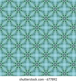 Lacy pattern with tiny green hearts