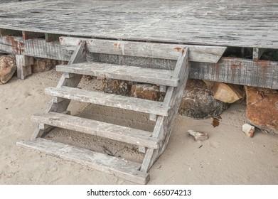 Ladder to beach