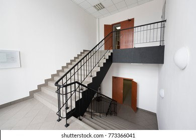 ladder in the building, offices