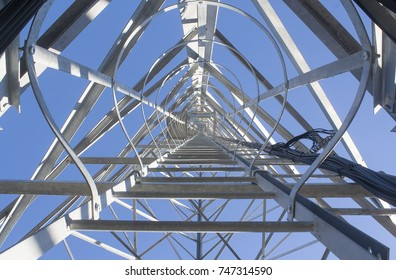 ladder to the cell tower