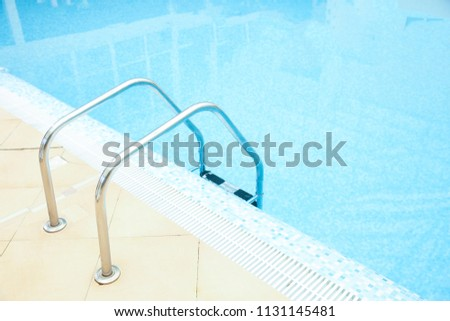 Ladder Grab Bars Swimming Pool Stock Photo (Edit Now) 1131145481