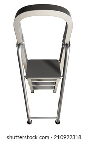 Ladder. isolated on white background. 3d