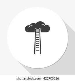 Ladder leading to cloud icon.