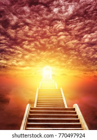 ladder rising to the rising sun