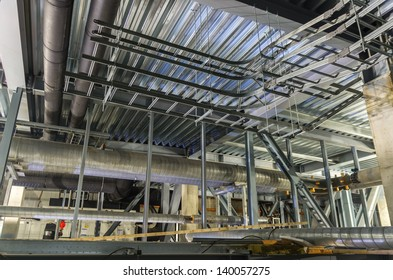 Ladders for cables installation  in an industrial building