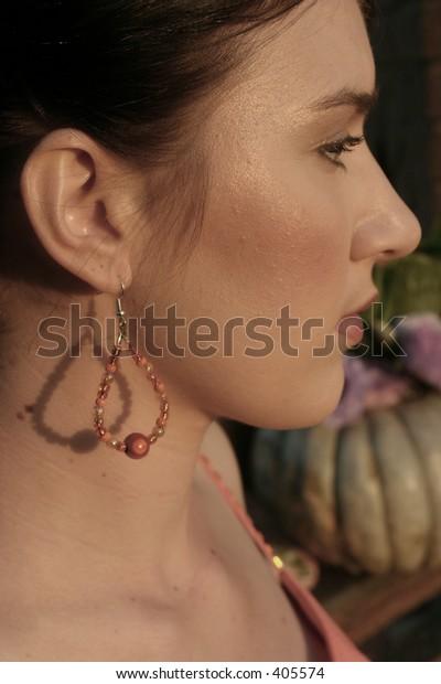 Ladies beaded earing