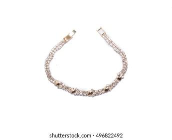 Ladies bracelet on white background