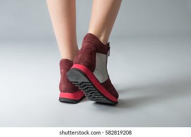 Ladies legs in boots