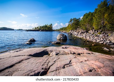 Ladoga Lake sunset views