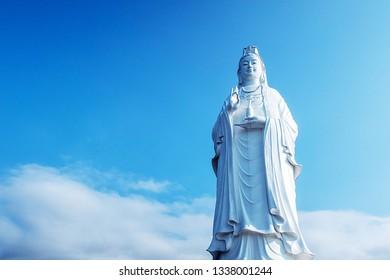 Lady Buddha Da Nang is located at Linh Ung Pagoda on Son Tra Peninsula in Da Nang , Vietnam