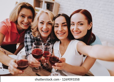 Lady Celebrate 8 March. Spring Time with Family Love Day for Beautiful Women. Sweet Wine. Breakfast for Women. Romantic Day Together. Smile and Happy Time with Friends. Lifestyle for Smile Old Woman.