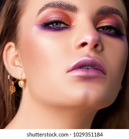 lady with Fashion make-up