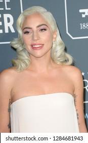 Lady Gaga at the 24th Annual Critics' Choice Awards held at the Barker Hangar in Santa Monica, USA on January 13, 2019.
