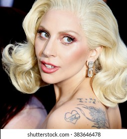 Lady Gaga at the 88th Annual Academy Awards held at the Hollywood & Highland Center in Hollywood, USA on February 28, 2016.