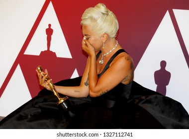Lady Gaga at the 91st Annual Academy Awards - Press Room held at the Loews Hotel in Hollywood, USA on February 24, 2019.