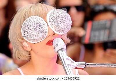 Lady Gaga on stage for NBC Today Show Concert with Lady Gaga, Rockefeller Plaza, New York, NY July 9, 2010