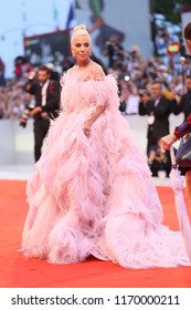 Lady Gaga walks the red carpet ahead of the 'A Star Is Born' screening during the 75th Venice Film Festival at Sala Grande on August 31, 2018 in Venice, Italy.