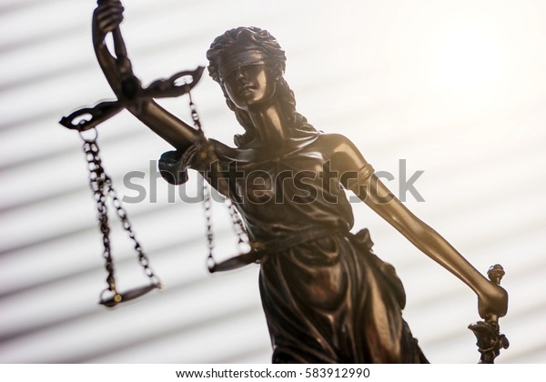 Lady Justice law concept image