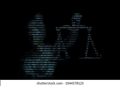 Lady justice on digital background (Concept of artificial intelligence lawyer)