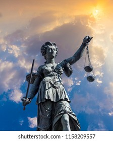 lady justice at the roemerberg in Frankfurt