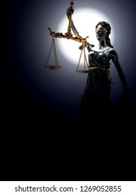 Lady Justicia statue figure