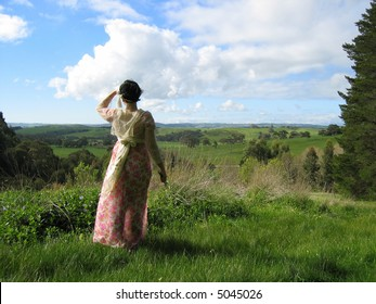 Lady Looking out to the valley