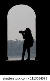 Lady Photographer Silhouette