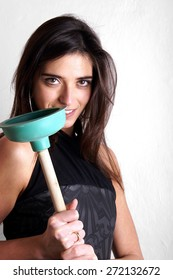 Lady with plungers