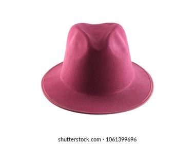 Lady purple hat isolated on white background For the design and editing of your work.