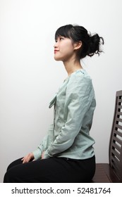 Lady sitting in good posture