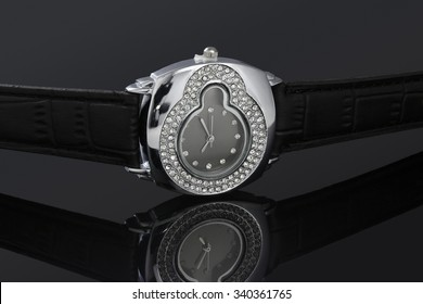 Lady watch on a black background