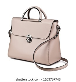 lady's bag isolated on white background stock photo