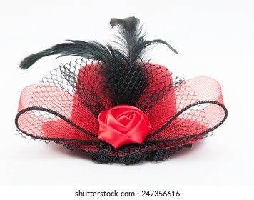 lady's hat on a white background