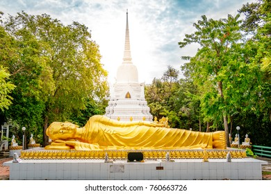Laem Sor Pagoda temple with Big Buddha statue during a sunny bright day in Koh Samui, Surat Thani, Thailand