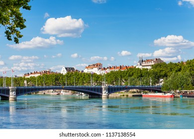 Lafayette bridge across the Rhone River in Lyon