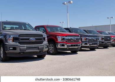 Lafayette - Circa April 2018: Local Ford Car and Truck Dealership. Ford sells products under the Lincoln and Motorcraft brands XII