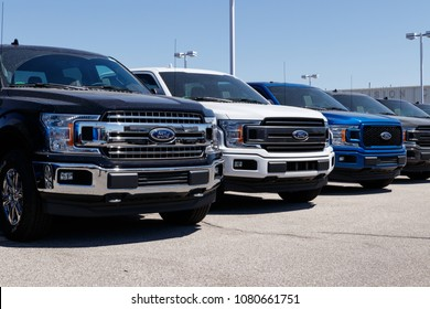 Lafayette - Circa April 2018: Local Ford Car and Truck Dealership. Ford sells products under the Lincoln and Motorcraft brands IX