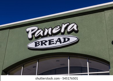 Lafayette - Circa December 2016: Panera Bread Retail Location. Panera is a Chain of Fast Casual Restaurants Offering Free WiFi VII